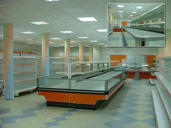 """Торговое оборудование для супермаркета """"Росинка"""" г.Ливны"""