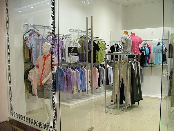 """Торговое оборудование для магазина одежды MONDO, ТЦ """"Европа"""""""