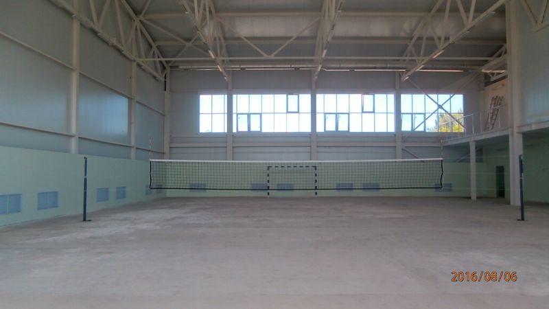 Поставка и монтаж сетчатых конструкций для спортзала СОШ с. Набережное