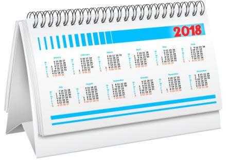 График работы компании в период новогодних каникул 2018