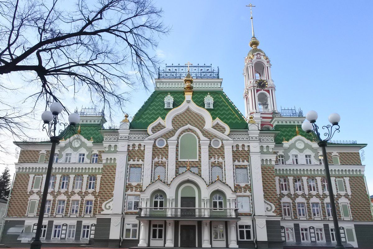 Оснащение трапезной Тамбовской духовной семинарии Тамбовской Епархии Русской Православной Церкви