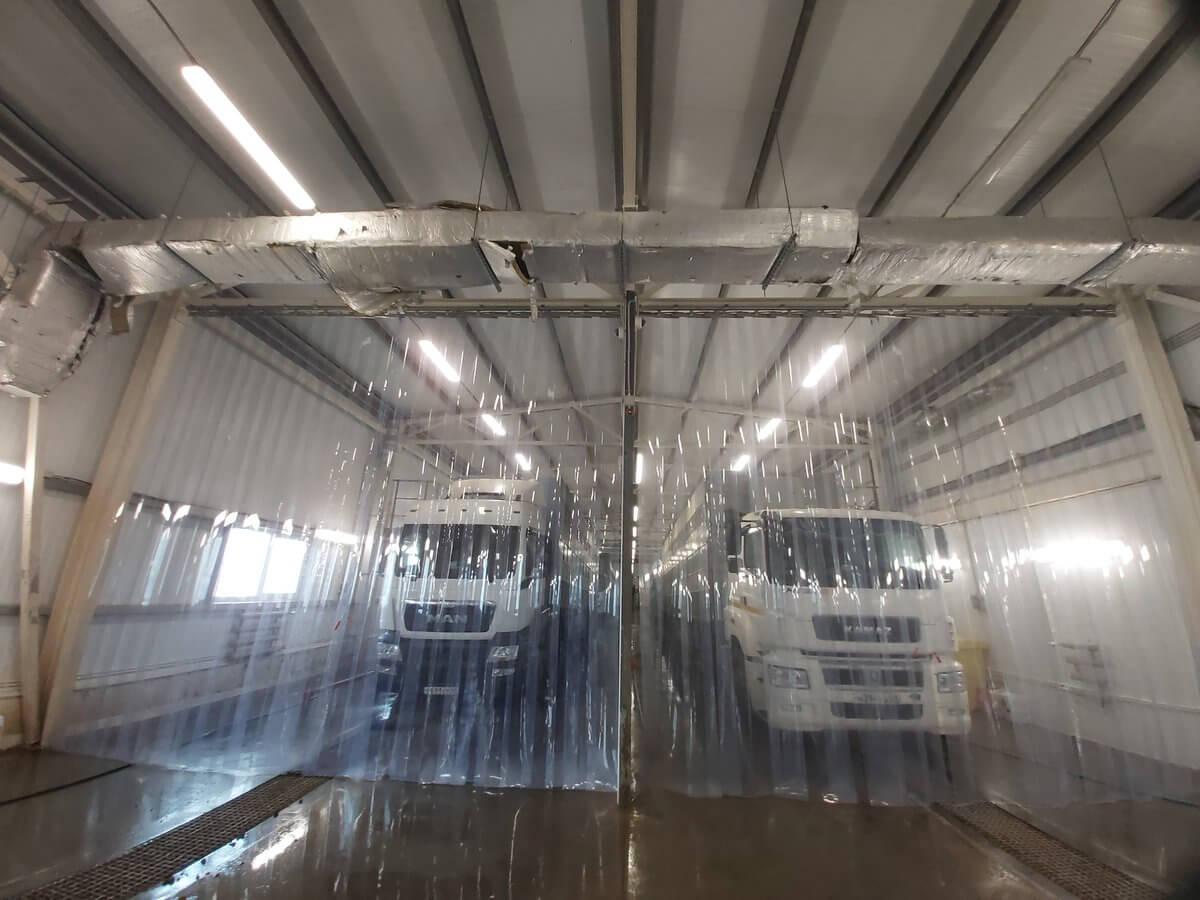 Поставка ПВХ завесы-шторы для ворот ООО «Тамбовский Бекон»