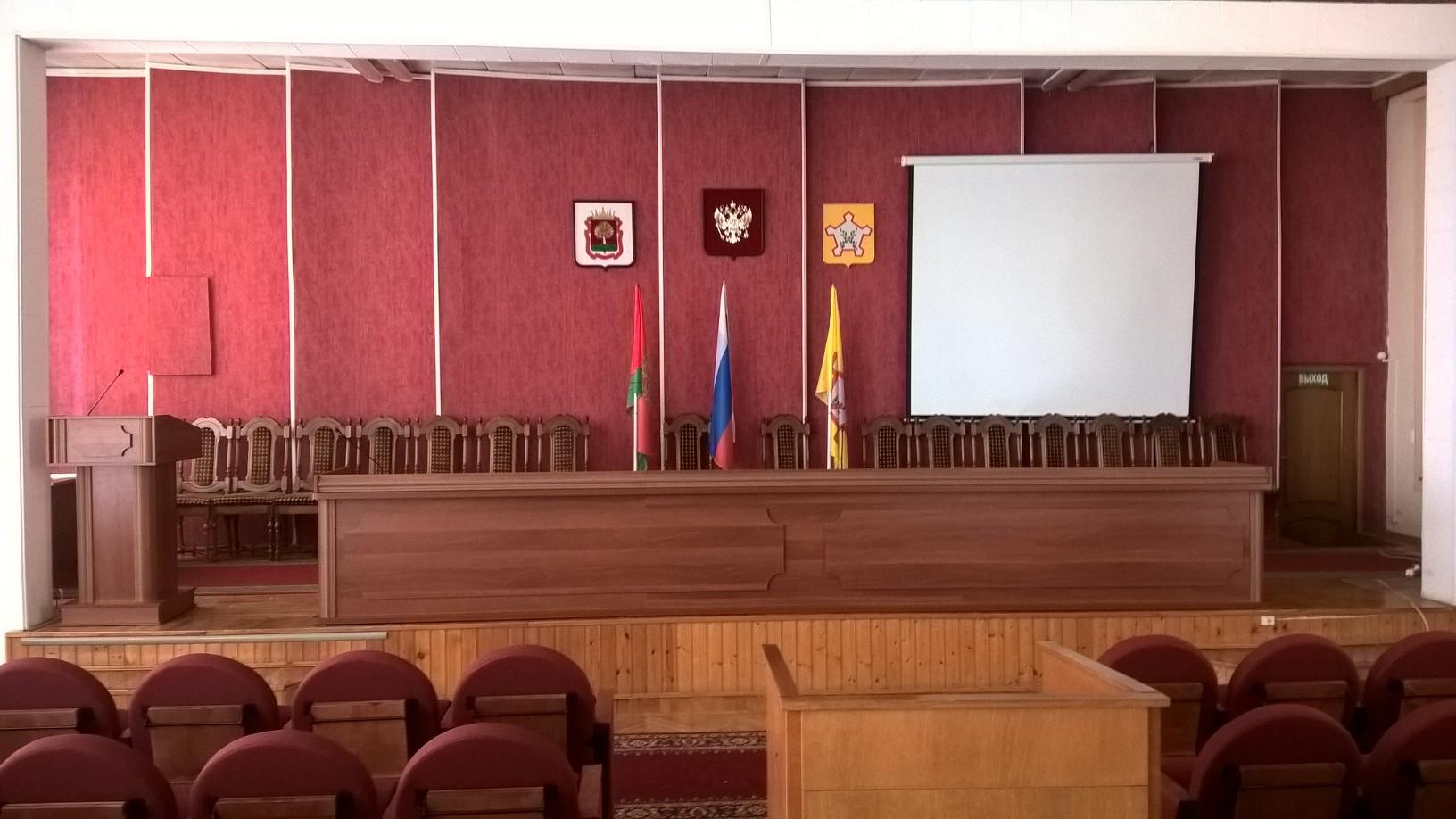 Стол президиума и трибуна для Администрации Чаплыгинского муниципального района