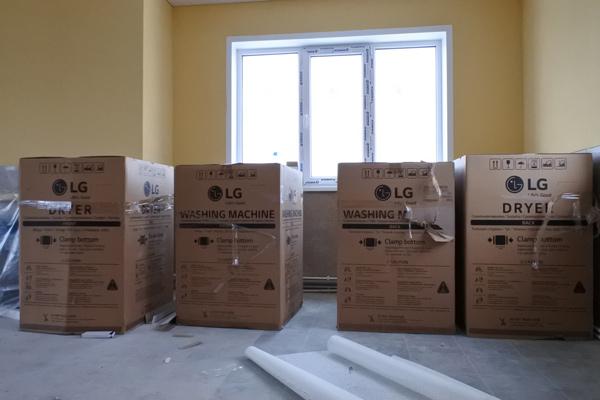 Поставка прачечного оборудования для ЖК «Романово»