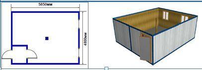 Блок-контейнер МК-02 штаб