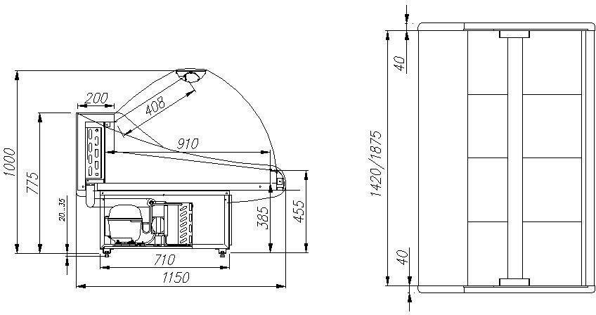 Витрина холодильная Полюс ВХС-2,0 ЭКО maxi фото, купить в Липецке   Uliss Trade
