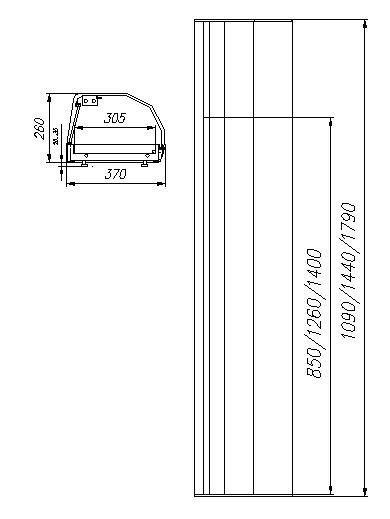 Витрина барная Полюс Carboma ВХСв-1,0 Суши-кейс фото, купить в Липецке | Uliss Trade
