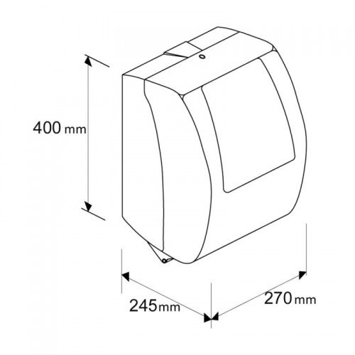 Автоматический держатель бумажных полотенец в рулонах MERIDA TOP MAXI (синий)