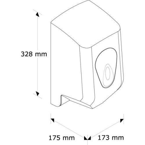 """PR2TS Полотенцедержатель для  бумажных полотенец в рулонах """"MINI MERIDA-TOP"""" (серя капля)"""