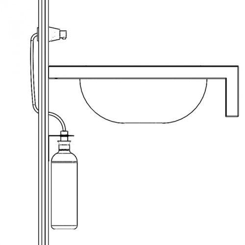 Дозатор жидкого мыла монтируемый на стену, цилиндр, матовый