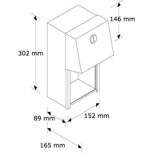 Держатель туалетной бумаги для двух бытовых рулонов металлический матовый