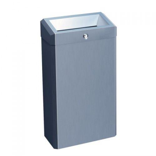 Корзина для мусора с конусным отверстием металлическая MERIDA STELLA ECONOMY (матовая) 27 л