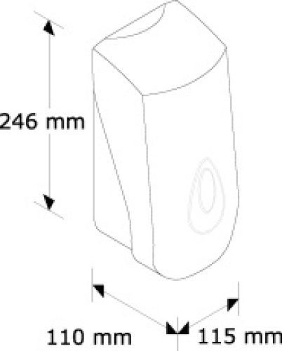 DN1TS Дозатор жидкого мыла MERIDA-TOP (серая капля 800мл)