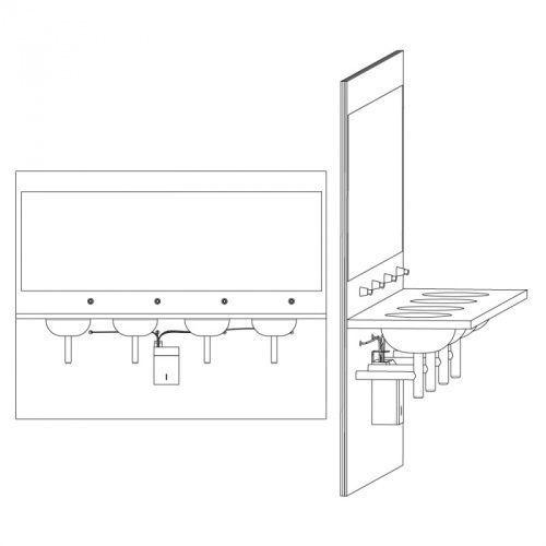 Система централизованного питания для дозаторов жидкого мыла