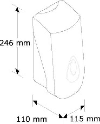 DN1TN Дозатор жидкого мыла MERIDA-TOP (синяя капля 800 мл)