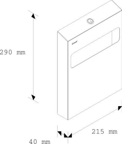 Держатель туалетных подкладок металлический MERIDA STELLA (матовый)