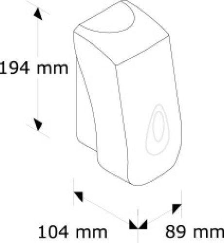 DN2TS Дозатор жидкого мыла MINI MERIDA-TOP (серая капля 400мл)