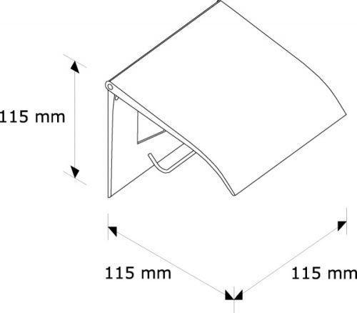 Держатель туалетной бумаги для бытовых рулонов (матовый)