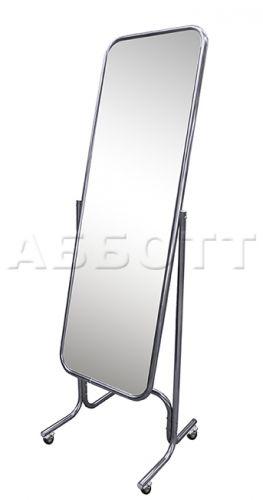 Зеркало примерочное напольное с изменением угла наклона на колесах двустороннее 5MD-05K