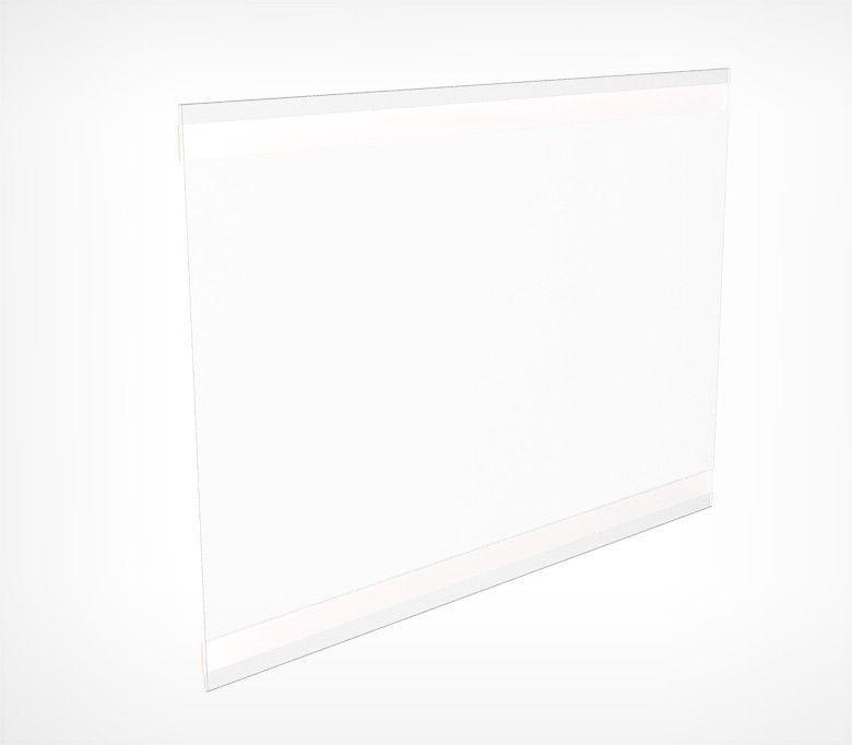 Карман из прозрачного пластика со скотчем PS-T