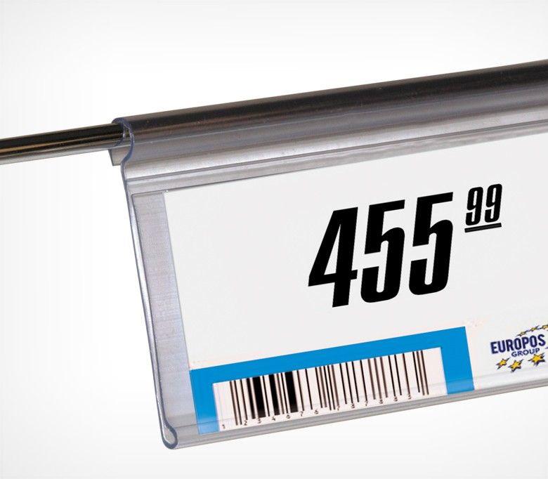 Ценникодержатель на корзины из металлических прутьев DRA