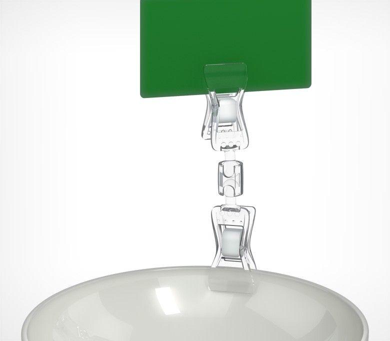 Универсальный ценникодержатель с прищепками, малый FXS-DBL