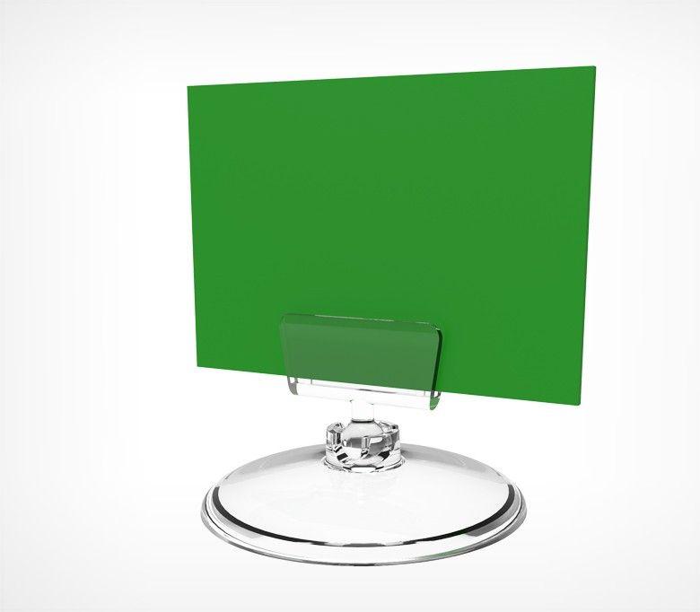 Ценникодержатель на круглой подставке BASE-CLIP