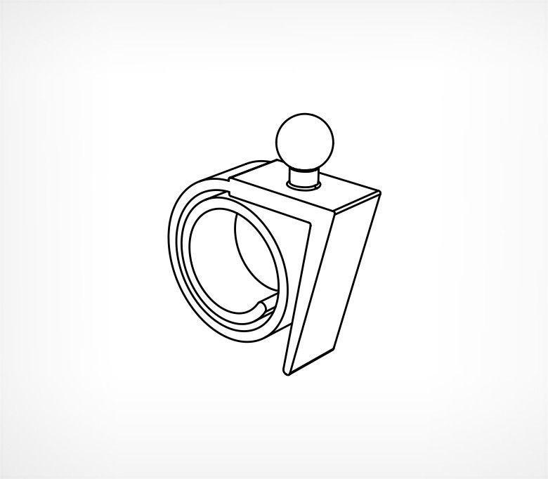 Спираль-улитка с углом для шарнирного ценникодержателя ROLL-VL-L