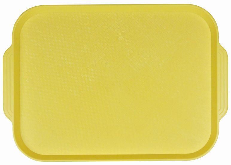 Поднос столовый из полистирола 450х355 мм желтый фото, купить в Липецке   Uliss Trade