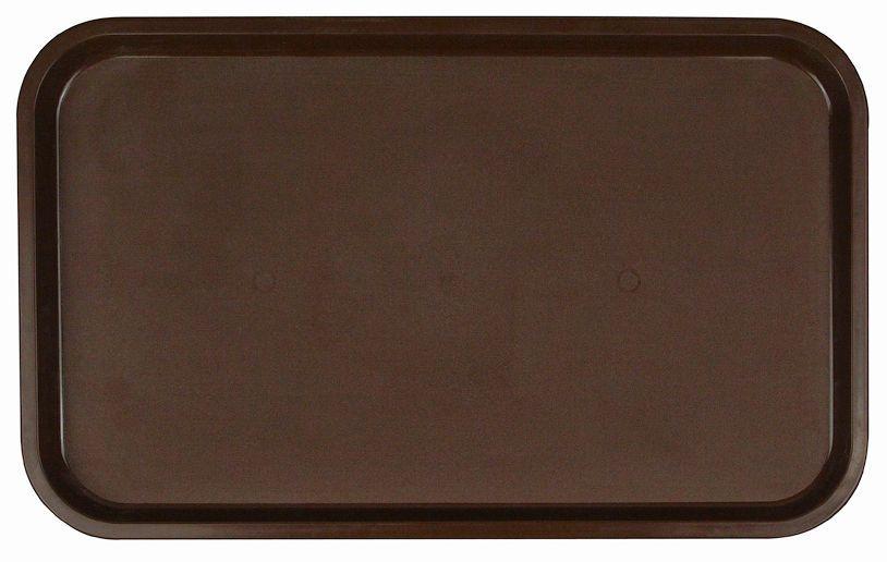 Поднос столовый из полистирола 530х330 мм темно-коричневый фото, купить в Липецке   Uliss Trade
