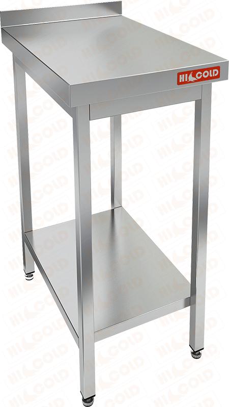 Стол производственный пристенный с бортом и полкой HICOLD НСО-4/6БП фото, купить в Липецке | Uliss Trade