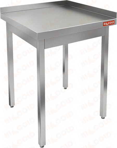 Стол производственный пристенный с двумя бортами без полки HICOLD НСО-7/7ББ фото, купить в Липецке   Uliss Trade