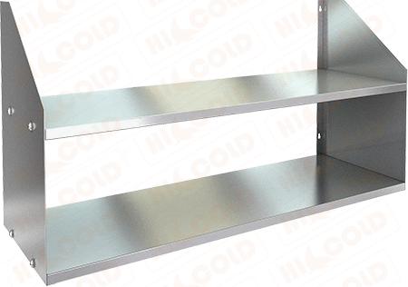 Полка нержавеющая настенная двойная HICOLD НПД-7/4 фото, купить в Липецке | Uliss Trade
