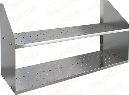 Полка нержавеющая настенная двойная перфорированная HICOLD НПД-8/3 П фото, купить в Липецке | Uliss Trade