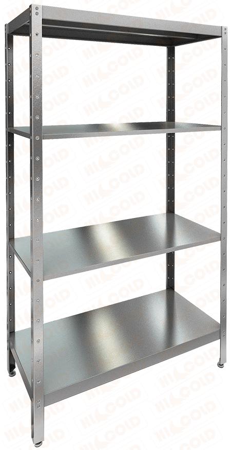 Стеллаж нержавеющий кухонный усиленный HICOLD НСКУ-7/3 фото, купить в Липецке | Uliss Trade