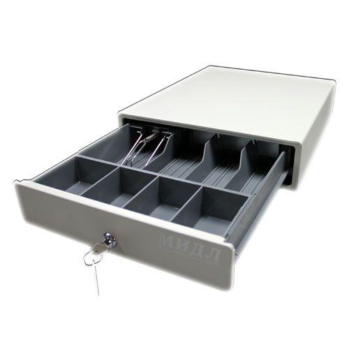 Денежный ящик 1.0/К0 (компакт. серый)