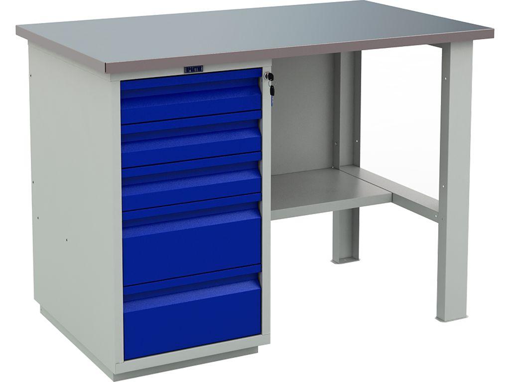 Металлический слесарно-столярный верстак WT120.WD5/F1.000 фото, купить в Липецке | Uliss Trade