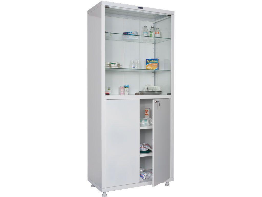 Шкаф для медикаментов двухстворчатый HILFE МД 2 1780/SG фото, купить в Липецке | Uliss Trade