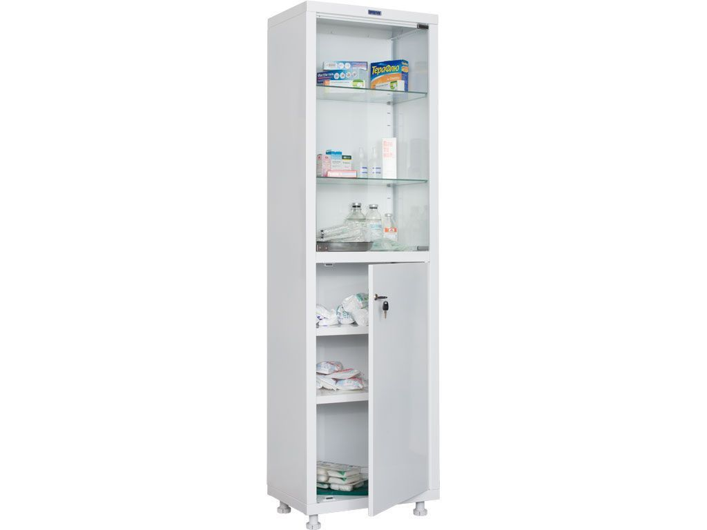 Шкаф для медикаментов одностворчатый HILFE МД 1 1657/SG фото, купить в Липецке   Uliss Trade