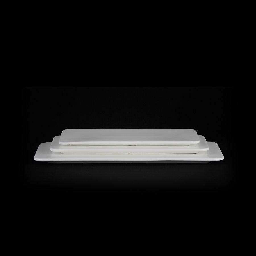 Блюдо прямоугольное «Chan Wave» 360х165 мм плоское