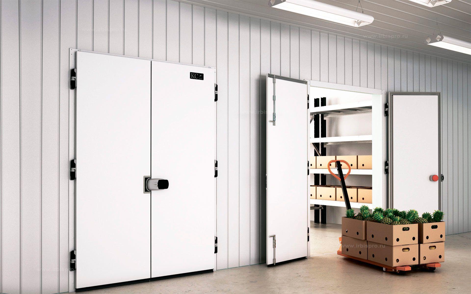 Распашные двухстворчатые холодильные двери коммерческой серии
