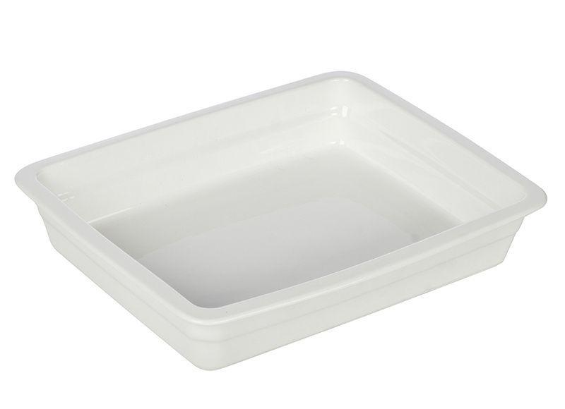 Гастроемкость керамическая «Corone» GN 1/2 326х265х60 мм белая фото, купить в Липецке   Uliss Trade