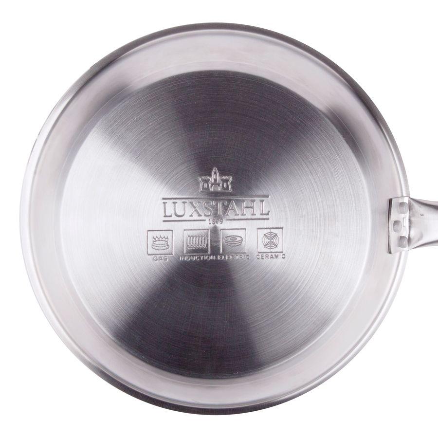 Сковорода Luxstahl 300/50 из нержавеющей стали, антипригарное покрытие