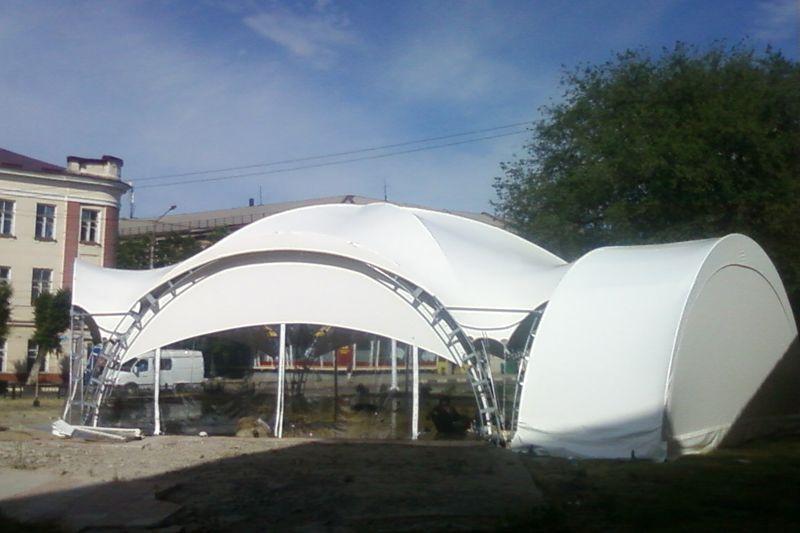 """Арочный шатер """"VIP Модуль 8Х4м"""" (32 кв.м.)"""
