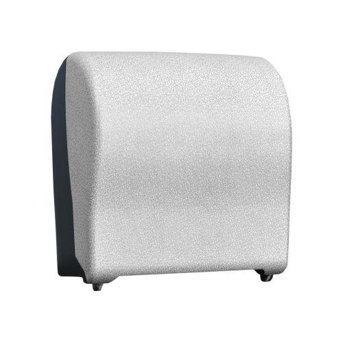Автоматический держатель бумажных полотенец в рулонах MERIDA UNIQUE SOLID CUT GLAMOUR WHITE LINE фото, купить в Липецке | Uliss Trade