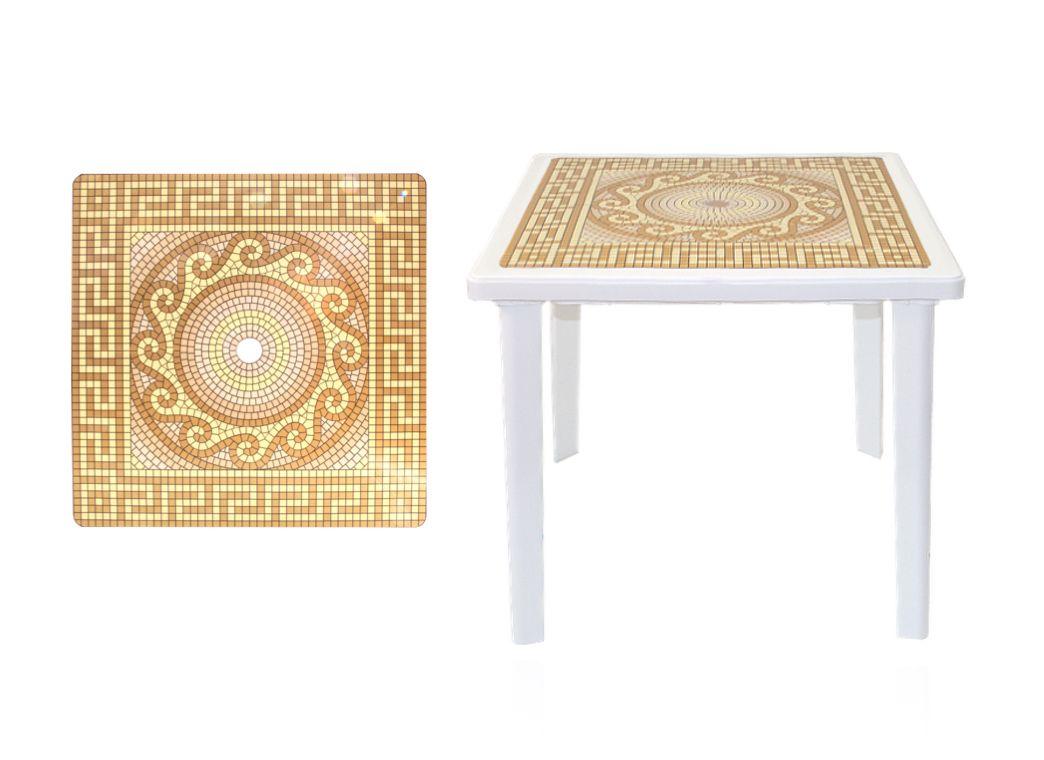 Стол квадратный с деколем 800х800х710мм фото, купить в Липецке   Uliss Trade
