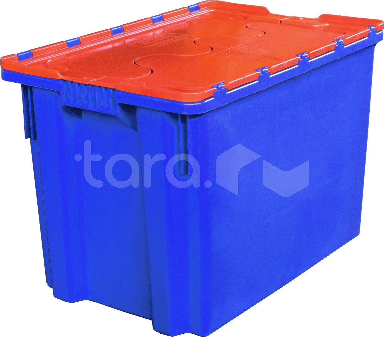Пластиковый ящик с крышкой 600x400x415