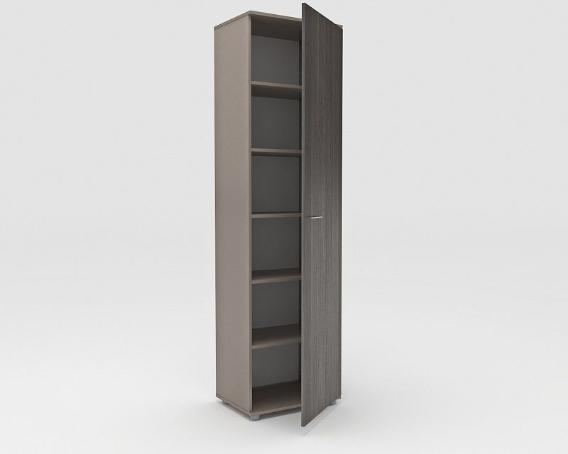 Шкаф для документов высокий узкий, 6 полок