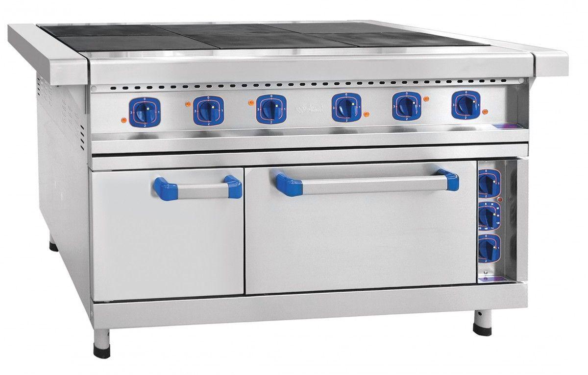 Плита электрическая Abat ЭП-6ЖШ-01 (нерж. духовка) фото, купить в Липецке | Uliss Trade