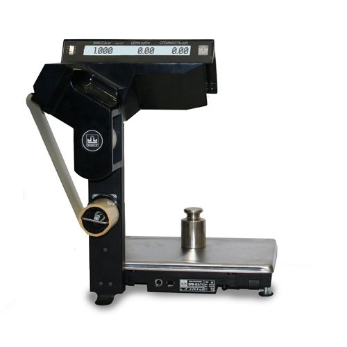ВПМ-Т1 печатающие торговые весы с устройством подмотки ленты фото, купить в Липецке | Uliss Trade